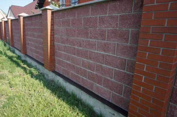 Забор из блоков Демлер