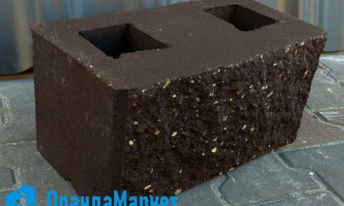 блок демлер для забора коричневый
