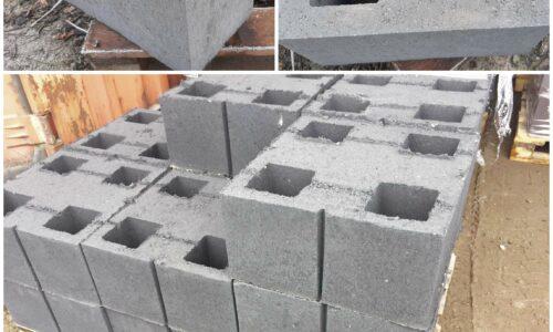 блок демлер серый гладкий внутренний для фундамента