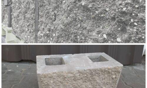 блок демлер серый рваный для фундамента