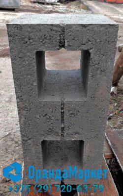 блок демлер для фундамента гладкий серый